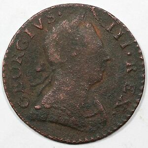 1776 V 6-76A R-4 LDS Machin's Mills Colonial Copper Coin
