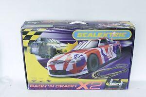 SCALEXTRIC Bash N Crash X2 Sports Car Slot Racing Set - T10