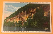 Cowskin/Elk River NOEL MO vintage unused linen postcard - Big Cedar Palisades