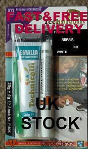 ENAMEL CHIP REPAIR KIT Touch in Paint Ceramic Acrylic Like,, Cramer Bath Sink,U