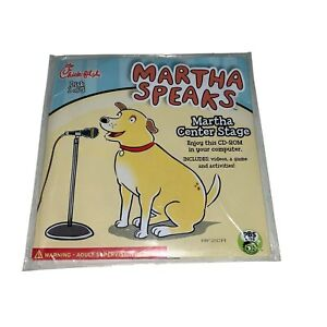 Chick-fil-A Martha Speaks Kids Meal Toy Martha Center Stage  CD-Rom #1