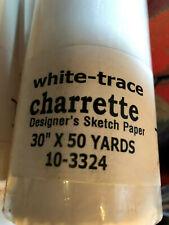 "Sketch Tracing Paper 30"" x 50' 2"" Rolls Designer Charrette Graphic Artist Arts"
