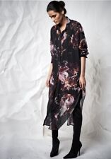 Religion Maxi Shirt Dress Abstract Flower Print Size S BNWT