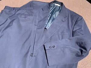 Brooks Brothers Vintage Wash & Wear Cotton Suit 50L 50 Long Navy Blue Trad Ivy