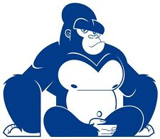 Gorilla Silhouette, Jungle Theme, Wall Covering, Art, Vinyl, Self Adhesive Decal