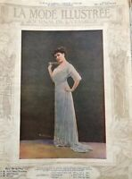 MODE ILLUSTREE SEWING PATTERN March 16,1913 - BALMAIN dress, ladies costumes