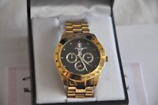 Untamed American Spirit Ford Mustang Chronograph Watch 24K Gold Plated Gift Box