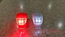 Camping Survival Bike LED Blinkie Mini Safety Front&Rear Light/ Taillight Set