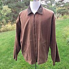 RARE Sample Levis Clothing Made USA Brown Denim  Men's Chore Coat Jacket L/XL