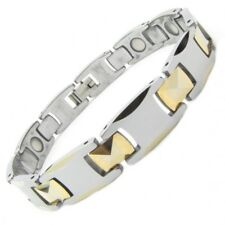 "Luxus Monarch Tungsten Wolfram Karbid Magnet Armband ""Wide GP"" Bracelet Gold"
