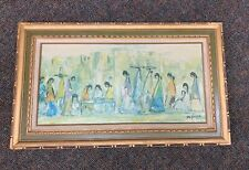 Vintage ~ DeGrazia ~ Wooden  Frame ~ Canvas ~ Huge