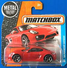 2016 Matchbox Red 2014 PORSCHE CAYMAN LUXURY SPORTS CAR - mint on short card!