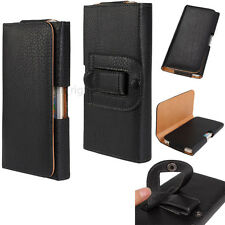 Classic Leather Design Belt Clip Magnetic Closing Flap Side Holster Pouch Case