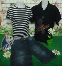 vêtements occasion garçon 8 ans,chemisette,tee-shirt,bermuda jean