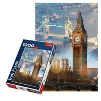 TREFL 1000 pezzi adulto LONDRA GRANDE Big Ben Tower Bridge pavimento Puzzle