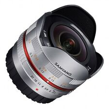 Samyang 7.5mm OJO DE PEZ f3.5 OBJETIVO MANUAL para Micro 4/3 - PLATA Olympus /