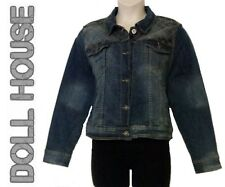 DOLLHOUSE $129 Denim Quilted Button Up Bomber Jacket Plus 2X 20W 22W QCO