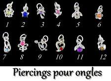 LOT de 24 piercings métal pour ongle nail art déco neuf de chez Miniboutic Nails