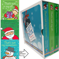 Fiona Watt That's Not My Elf,Snowman,Santa Collection 3 Books Gift Wrapped Slipc