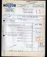 """LUZARCHES (95) MATERIEL AGRICOLE """"MOUZON Freres"""" en 1960"""