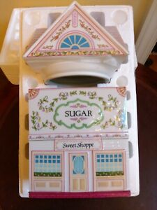 "Lenox Village Sugar Canister ""Sweet Shoppe"" Fine Porcelain 1990 New - Open Box"