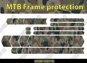 FRAME PROTECTION STICKERS 008 - MTB mountain bike bicycle emtb - CAMOUFLAGE