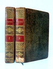 OEUVRES DE SALLUSTE - Traduction DUREAU - DELAMALLE - 2 Tomes - Ed NICOLLE1808