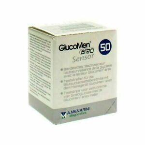 Glucomen areo sensor blood glucose test strips - Box of 50 - NEW STOCK