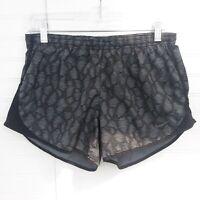 Nike Dri-Fit Women's Size S Black/Gray Geometric Lined Athletic Running Shorts