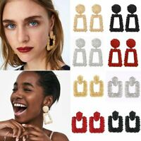 Fashion Women Geometric Statement Drop Dangle Earrings Wedding Jewelry Gifts Hot