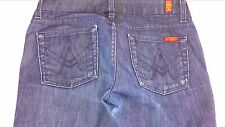 7 For All Mankind A Pocket Jeans Womens SZ 29 Short Dark Boot 32 x 28.5 Actual