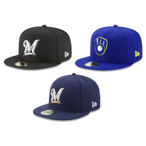 Milwaukee Brewers MIL MLB Authentic New Era 59FIFTY Fitted Cap - 5950 Hat
