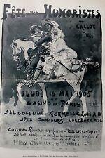 Plakat-Entwurf von J.Ballet. Offsetlitho..1907,(Fete Callot) - 40x27,5 cm.