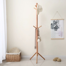 1x 70'' Hook Coat Stand Tree Rack Stand Home Furnishing Wooden Tree Hat Hanger