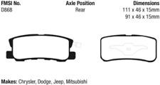 EBC Yellowstuff 4000 Brake Pad Set Rear for Chrysler / Dodge / Jeep / Mitsubishi