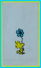 Embroidered Snoopy WOODSTOCK Kitchen Bathroom white cotton Fingertip Towel