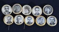 10 Original Soviet Space Programme Cosmonaut Pin/Lapel Badges 1960s