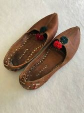 Indian Jooti Mojri chappal shoes bottom sole length 9.75 inches