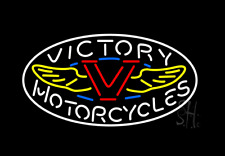 Victory Motorcycle Real Glass Beer Bar Pub Store Party Decor Neon Signs 19x15