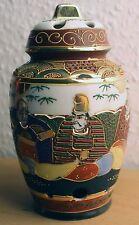 Japanische Satsuma Deckel Vase handbemalt japanese chinese signed signiert China