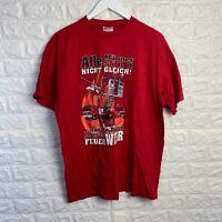 VINTAGE B&C Mens T-Shirt XL Red Alle Manner Sind Nicht Cleich Graphic Tee