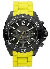 Michael Kors Watch * MK8236 Drake Chrono Yellow Silicone & Steel COD #crazy1212