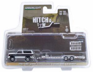 GREENLIGHT 32210 1983 GMC JIMMY SIERRA CLASSIC & HEAVY DUTY CAR HAULER