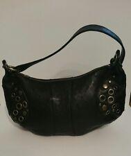 Danier Leather Black Leather Hobo Handbag