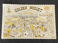 Vintage Original Restaurant Paper Place Mat Golden Nugget Casino Las Vegas NV
