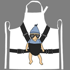 Funny Apron- Strap A Baby Apron- Fun Kitchen- Grilling- NEW
