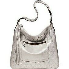 NWT COACH LIMITED EDITION WOVEN LACE XL METALLIC SILVER HOBO BAG PURSE WOW!