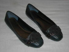 Arturo Chiang Blue Green Ballet Flats Black 7 M Thick rubber sole for comfort 7M
