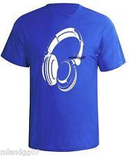 Headphones T-Shirt DJ Music Party Shirt Cool Club Pop  SIZES S-5XL