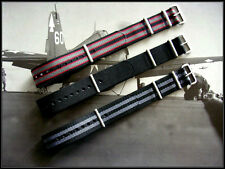 18-20-22-24 NATO G10 Military watchband strap 3pak Army RAF Bonded IW SUISSE USA